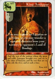 King Asnappar card from Redemption The Card Game